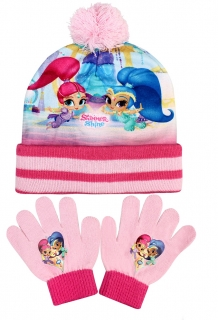 Set čepice a rukavice Shimmer and Shine
